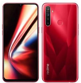 Realme 5s Dual Sim (4G, 4GB, 128GB,Crystal Red) With Official Warranty