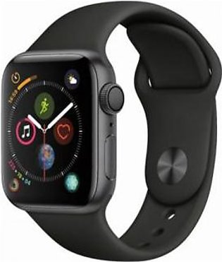 Apple Watch Series 4 40mm MU662 Space Gray Aluminum Case With Black Sport Ban...