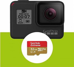 GoPro HERO 7 Black Sports Action Camera with Sandisk 32GB Micro SD Card