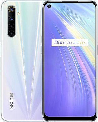 Realme 6 Dual Sim (4G, 4GB RAM, 128GB ROM,Comet White ) With Official Warranty