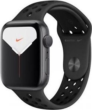 Apple Watch Series 5 MX3W2 44mm (GPS, Space Gray Aluminum, Anthracite Black N...