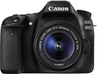 Canon EOS 80D Digital SLR Camera 18-55mm Lens