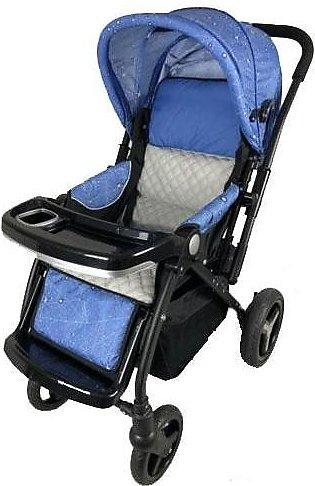 Baby Stroller 4 Wheel - Navy Blue