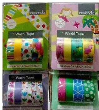 Decorative Washi Tape (Germany) Masking Tape 4 Different Attractive Patterns ...