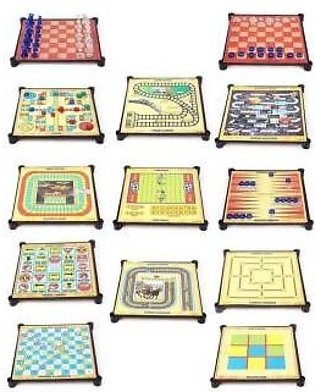 13 in 1 Magnetic Board Game (Chess, Snakes & Ladders and Ludo)