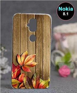 Nokia 8.1 Back Cover - Wood Style Cover