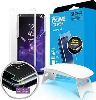 Whitestone Galaxy S9 Glass Tempered Glass Screen Protector with UV