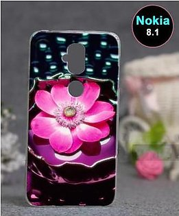 Nokia 8.1 Back Cover - Floral Cover (D4)
