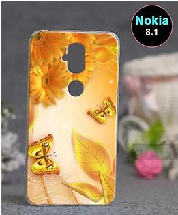 Nokia 8.1 Back Cover - Butterfly Cover (D1)