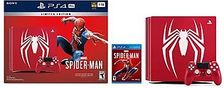 Sony Playstation 4 Pro 1TB Limited Edition Console Marvel's Spider Man Bundle (…
