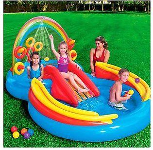 Intex Inflatable Rainbow Ring Water Play Centre