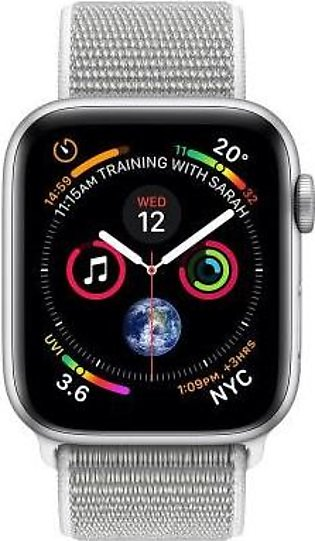 Apple Watch Series 4 MTUV2 44mm Silver Aluminum Case With Seashell Sport Loop...