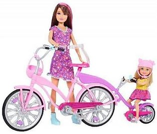 Mattel Barbie Sisters Bike For Two Doll Set