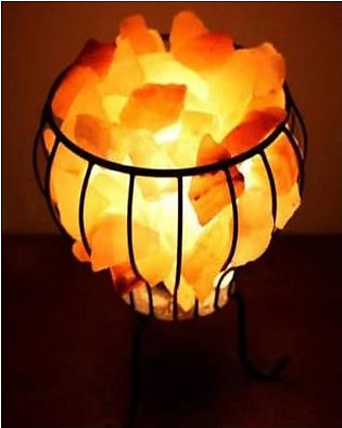 Himalayan Salt Lamp Iron Basket