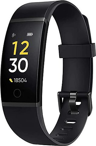 Realme Band (Black) - Full Colour Screen with Touchkey, Real-time Heart Rate Mo…