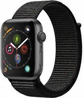 Apple Watch Series 4 44 mm Space Gray Aluminum Case with Black Sport Loop (GPS) - (MU6E2LL/A)