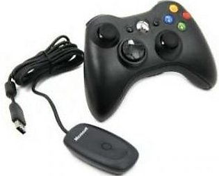 Microsoft Xbox 360 Wireless Controller With PC Receiver (Black)
