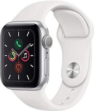 Apple Watch Series 5 MWV62 40mm Silver Aluminum Case with Sport Band (GPS)