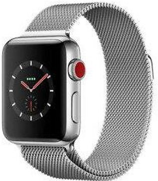Apple Watch Series 3 MR1F2 -38mm GPS + Cellular Stainless Steel Case With Mil...