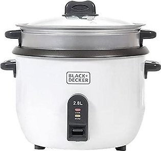 Black n Decker RC2850 Cup Rice Cooker & Glass lid with cool touch handles 2.8 L…