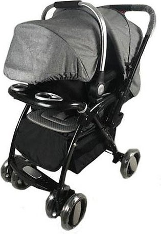 Baby Stroller 2 in 1 - Dark Grey
