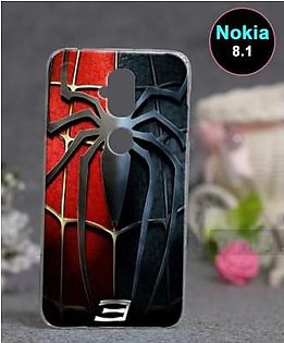 Nokia 8.1 Back Cover - Spider Cover (D1)