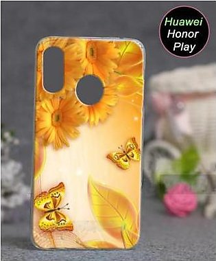 Huawei Honor Play Cover Case - Butterfly Cover (D2)
