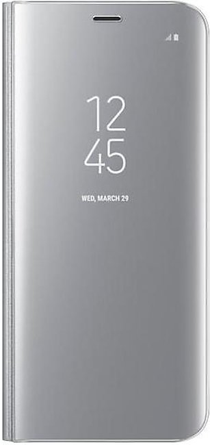 Samsung Galaxy S8 Clear View Standing Cover (Silver)