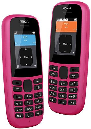 Nokia 105 (2019) Pink With 1 Year Official Warranty