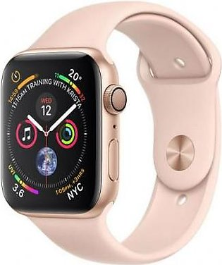 Apple Watch Series 4 MU6F2 44mm Gold Aluminum Case With Pink Sand Sport Band - …