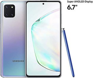 Samsung Galaxy Note 10 Lite Dual Sim (4G, 8GB, 128GB,Aura Glow) - PTA Approved