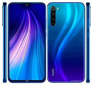 Xiaomi Redmi Note 8 (4G, 4GB RAM, 64GB ROM, Crystal Blue) With 1 Year Official Warranty