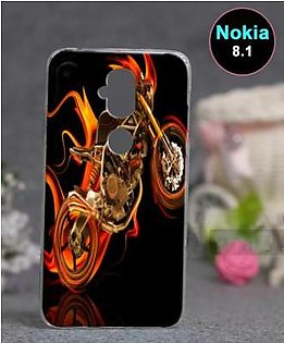 Nokia 8.1 Back Cover - Bike Cover (D1)