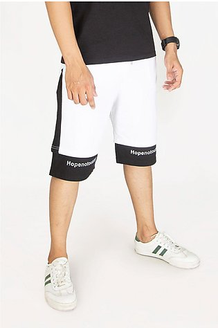 White and Black Comfort Shorts
