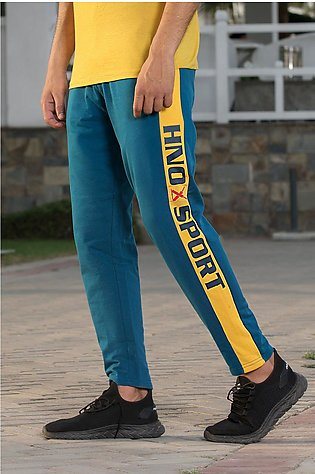 Color Blocking Panelled Knit Trouser