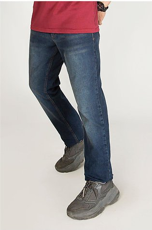 Blue Faded Slim Fit Jeans