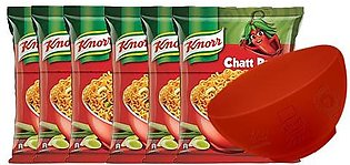 BUY 6 Knorr Noodles Chatt Patta 66g and GET Islamabad United Signed Bowl FREE