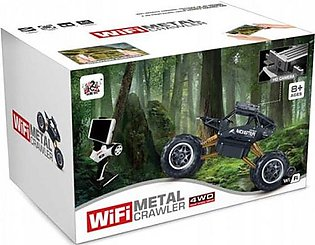 Remote Controlled Wifi Black Metal Crawler (1:14 Scale) 4WD 2.4 Ghz