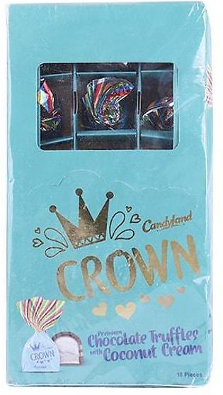 Candyland Crown Chocolate Truffles With Coconut Cream Box