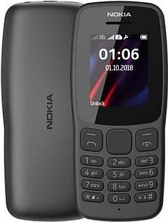 Nokia 106 Dual Sim | Black | With Official Warranty