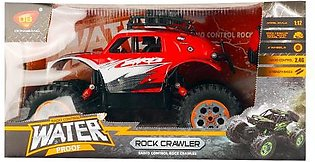 Remote Controlled Red and White Amphibious Waterproof Climbing 4Wd 2.4 Ghz