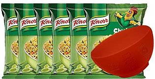BUY 6 Knorr Noodles Chicken 66g and GET Islamabad United Signed Bowl FREE