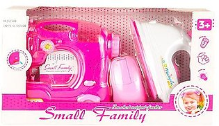 Miniature Sewing Machine and Iron Combo For Kids