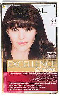 Loreal Paris Excellence Cream 3.0 Dark Brown Hair Color