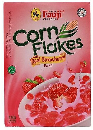 Fauji Corn Flakes With Real Strawberry Purree