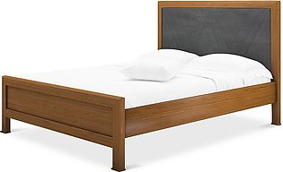 Queen size Bed Crescent CRF in Chestnut And Grey Colour