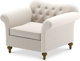 Sofa Noble Single Seater in Off White Colour