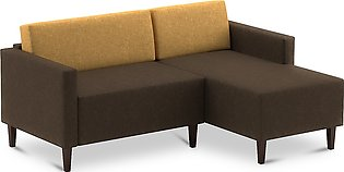 L Shape Sofa Echo Corner Right Chase In Brown And Yellow Colour