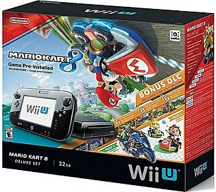 Mario Kart 8 Wii U 32GB Console Deluxe Set Game For Nintendo - Black