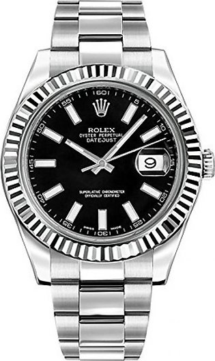 Rolex Datejust II 41 Men's Watch Silver (116334-BLKSFO)